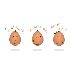 Easter Eggs Emotion Collection vector image vector image