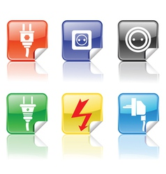 electric icons vector image