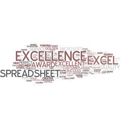 Excellence word cloud concept vector