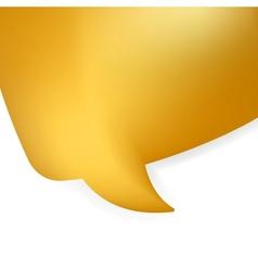 Golden shiny modern speech bubble EPS 8 vector image
