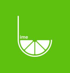 green lime logo design template vector image vector image