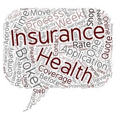 Health insurance and insurance brokers text vector