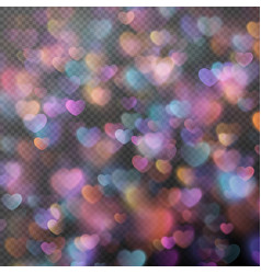 Hearts bokeh as effect EPS 10 vector image vector image