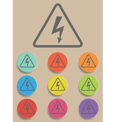 High voltage sign - vector