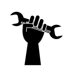 Isolated hand holding wrench design vector image vector image