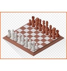 Isometric chess piece chessmen vector