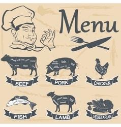 Meat menu vector