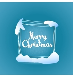 Merry christmas quadrate greeting card vector