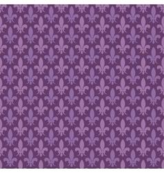 Purple fleur de lis seamless pattern vector