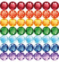 Rainbow of jewelry seamless texture vector image vector image