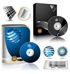 Software box vector image vector image