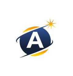 swoosh logo letter a vector image