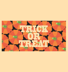 trick or treat orange poster vector image