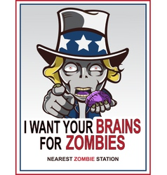 Uncle sam zombie vector