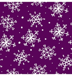 Christmas seamless pattern snowflake background vector image