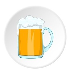 Mug with alcoholic beer icon cartoon style vector