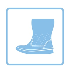 Woman fluffy boot icon vector