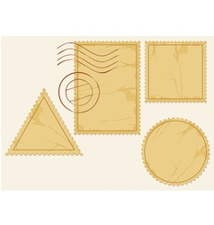 Set of blank postage stamps vector