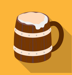 Viking ale icon in flate style isolated on white vector