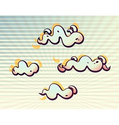 Wavy clouds in the sunbeams vector