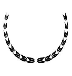 Laurel wreath victory decoration leaves vector