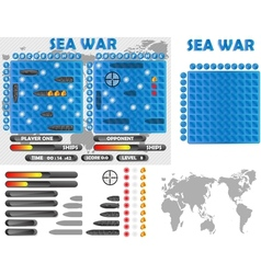 Sea war infographics vector image