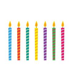 Birthday candles set vector