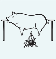 Roasted pig vector
