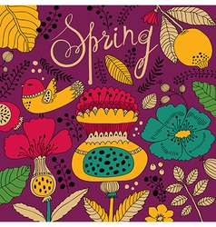 Spring artistic background vector