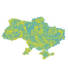 Map of Ukraine territory vector image