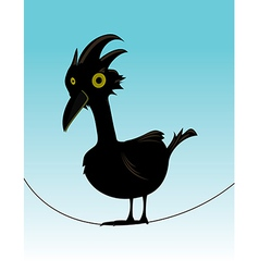 Bird on wire vector
