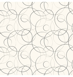 Abstract geometric line and round seamless pattern vector