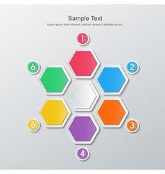 Paper six step infographics vector