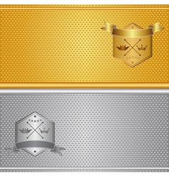 Gold silver background vector