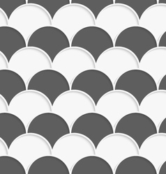 3d white and gray overlapping half circles in rows vector
