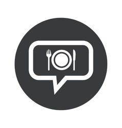 Round dialog dinner icon vector