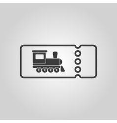 The blank train ticket icon travel symbol flat vector