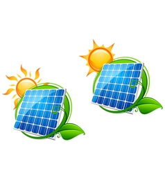Solar energy panels vector