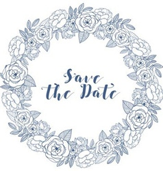 Save the date banner vector