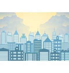 Morning city skyline vector
