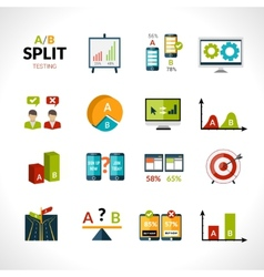 A-b testing icons vector