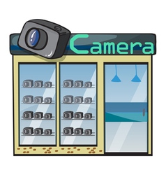 a camera shop vector image