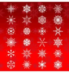 beautiful snowflakes vector image vector image