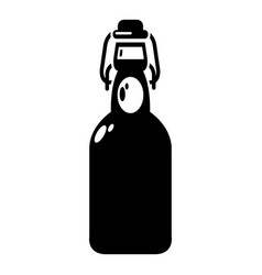 bottle with bung icon simple style vector image vector image