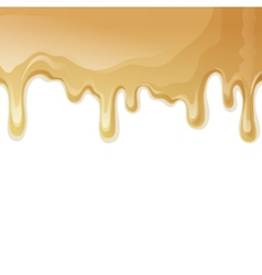 Caramel drips background vector image