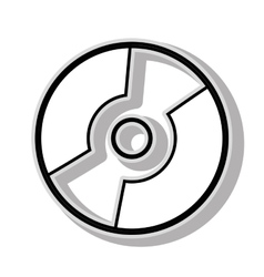 CD music icon graphic design vector image vector image