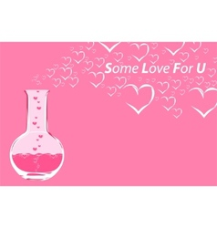 chemistry love vector image