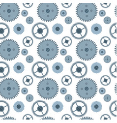 Cog wheel gear seamless pattern vector