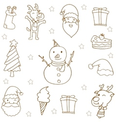 Doodle of christmas hand draw vector