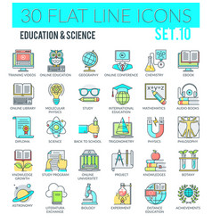 Education science icons vector